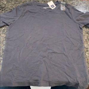 NWT gap kids v neck t shirt gray xs 4-5 new